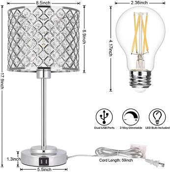 BEST MODERN GLAM DESK LAMP