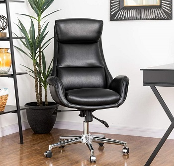 BEST MODERN MID CENTURY LEATHER OFFICE CHAIR