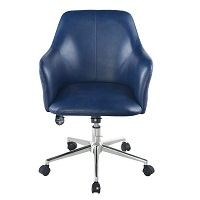 BEST NAVY BLUE LEATHER OFFICE CHAIR Summary