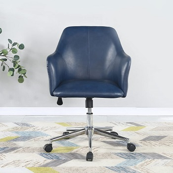 BEST NAVY BLUE LEATHER OFFICE CHAIR