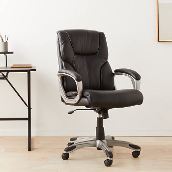 BEST OF BEST BLACK LEATHER OFFICE CHAIR WITH WHEELS