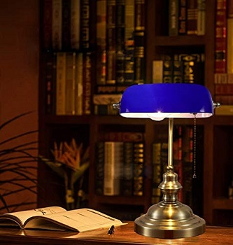 BEST OF BEST BLUE BANKERS LAMP
