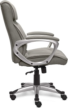 BEST OF BEST GRAY FABRIC OFFICE CHAIR