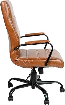 BEST OF BEST LEATHER DESK CHAIR WITH ARMS