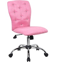 BEST OF BEST PINK TUFTED DESK CHAIR Summary