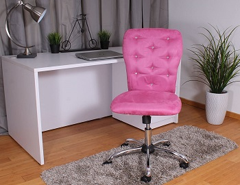 BEST OF BEST PINK TUFTED DESK CHAIR