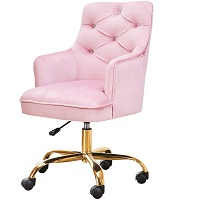 BEST OF BEST PINK UPHOLSTERED DESK CHAIR Summary
