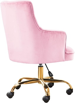 BEST OF BEST PINK UPHOLSTERED DESK CHAIR