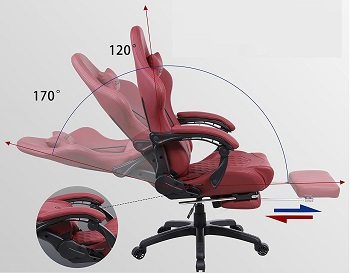 BEST OF BEST RED LEATHER DESK CHAIR
