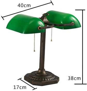 BEST READING GREEN GLASS DESK LAMP