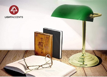 BEST READING GREEN LAWYER LAMP