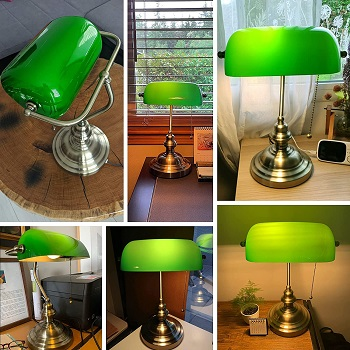 BEST SMALL BRASS BANKERS LAMP