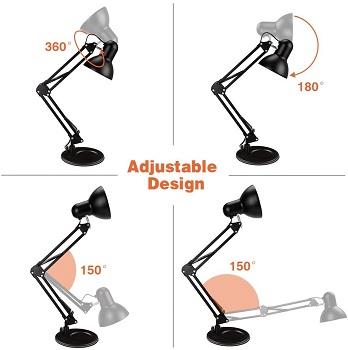 BEST SWING ARM BLACK METAL DESK LAMP