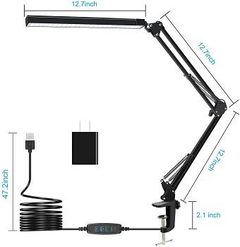 BEST SWING ARM MODERN BLACK DESK LAMP