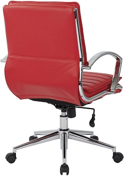 BEST SWIVEL RED LEATHER DESK CHAIR