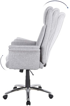 BEST TALL GREY FABRIC OFFICE CHAIR