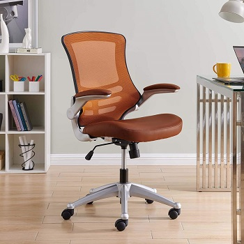 BEST TASK TAN LEATHER OFFICE CHAIR