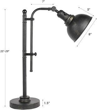 BEST VINTAGE BLACK METAL DESK LAMP