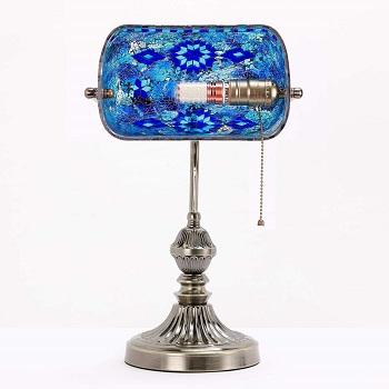 BEST VINTAGE BLUE BANKERS LAMP