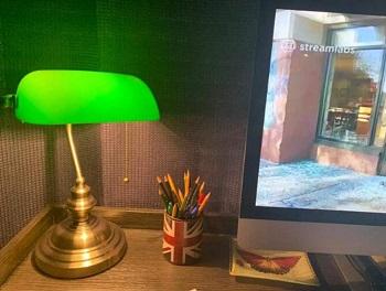 BEST VINTAGE GREEN LAWYER LAMP