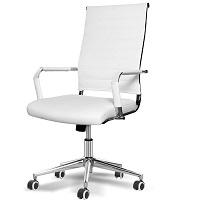 BEST WHITE LEATHER OFFICE CHAIR WITH ARMS Summary