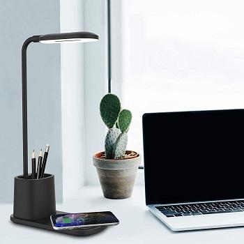 BEST WIRELESS DESK LAMP WITH ORGANIZER