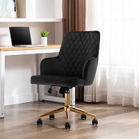 BEST WITH ARMRESTS BLACK UPHOLSTERED DESK CHAIR Summary