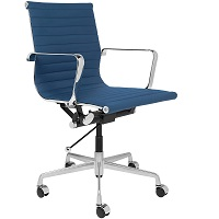 BEST WITH ARMRESTS BLUE LEATHER DESK CHAIR Summary