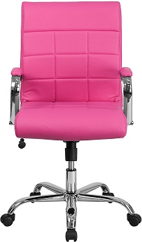 BEST WITH ARMRESTS PINK EXECUTIVE CHAIR