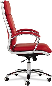 BEST WITH ARMRESTS RED LEATHER OFFICE CHAIR