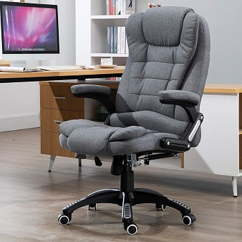 BEST WITH ARMS GRAY FABRIC OFFICE CHAIR