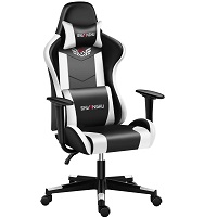 BEST WITH BACK SUPPORT BLACK AND WHITE DESK CHAIR Summary