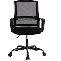 BEST WITH BACK SUPPORT BLACK UPHOLSTERED DESK CHAIR Summary