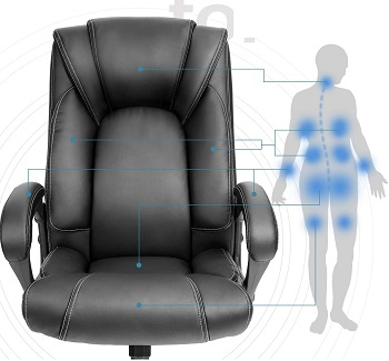 BEST WITH BACK SUPPORT LEATHER ROLLING CHAIR