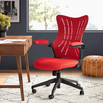 BEST WITH BACK SUPPORT MESH DESK CHAIR WITH ARMS