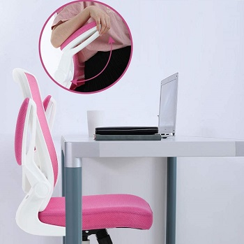 BEST WITH BACK SUPPORT PINK EXECUTIVE CHAIR