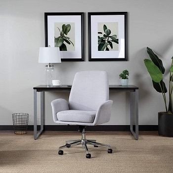 BEST WITH WHEELS FABRIC OFFICE CHAIR WITH ARMS