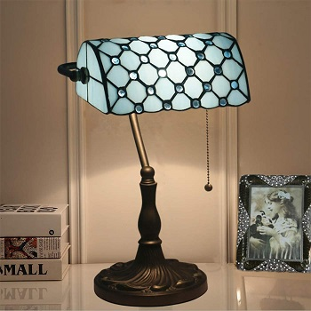 Bankers Lamp 10 Inches Tiffany Style