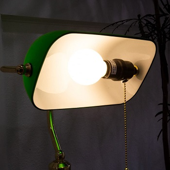 Barton Bankers Desk Lamp with Green
