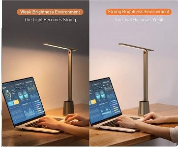 Baseus LED Desk Lamp, Auto-Dimming Table