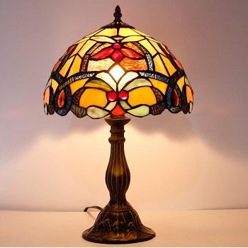 Bedside Tiffany Table Lamp Orange