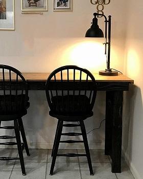 CO-Z Rustic Desk Lamp Black Adjustable, Industrial