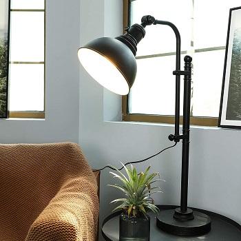 CO-Z Rustic Desk Lamp Black Adjustable