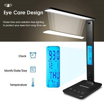 Desk Lamp, LED Desk Lamp with Wireless