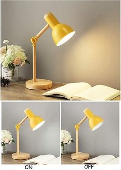 FULCLOUD Wooden LED Table Lamp