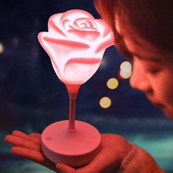 Flower Desk Lamp,Winnes Rose Lamp