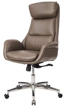 Glitzhome Leather Swivel Chair