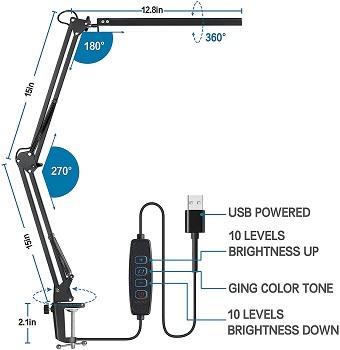 Himoon Adjustable Desk Lamp