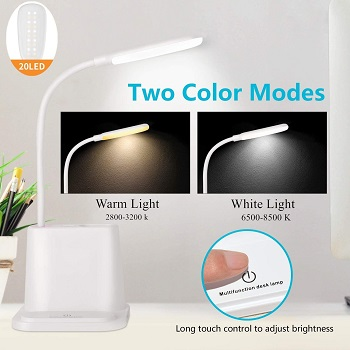 LED Desk Lamp, NovoLido Rechargeable