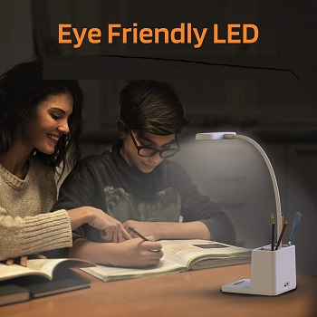 LED Desk Lamp with Pen Holder,